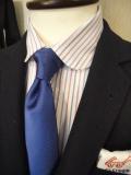 MAISON KITSUNE(メゾンキツネ)  CLASSIC SHIRT オックス マルチストライプラウンドカラー シャツ