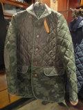 LAVENHAM (ラヴェンハム) AW  NEW モデル『BARFORD』 メンズ 迷彩キルティングジャケット CAMO PRINT/GREEN