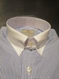 HACKETT LONDON(ハケット ロンドン)  AW ロンドンストライプクレリックタブカラーシャツ