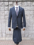 LARDINI(ラルディーニ)   4Ply Yarn Solid Suits ホップサックスーツ*NAVY*