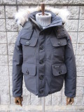 カナダ グース(CANADA GOOSE)2301JM RUSSELL PARKA 《NEW MODEL》ラッセルパーカ  BLACK DOWN JACKET
