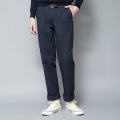 The Chino Revived Back piled herringbone neo wide fit ダークネイビー