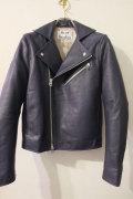 ACNE STUDIOS アクネ ストゥディオズ GIBSON NAVY Leather Biker Jacket  レザーライダースジャケット 【different通販】