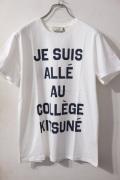 メゾンキツネ (MAISON KITSUNE)  Tee JE SUIS ALLE *WHITE カレッジプリントTシャツ