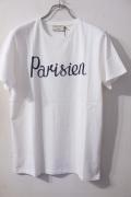 メゾンキツネ (MAISON KITSUNE)  Tee PARISIEN *WHITE パリジャンプリントTシャツ