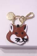 メゾンキツネ(MAISON KITSUNE) LEATHER FOX HEAD KEYRING レザーキーホルダー