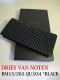 DRIES VAN NOTEN ドリスヴァンノッテン BM15/265 QU.934 *BLACK  長財布 【different通販】
