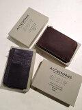Creed クリード 253C050 HABANA L字ジップ カードケース チョコ、ネイビー
