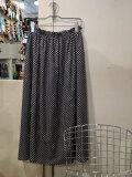 Manna マンナ 217004 ドットプリントスカート NAVY