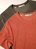 【MADE IN ITALY】 GUY ROVER (ギ・ローバー ) パイル地 クルーネック ポケットTシャツ ORANGE、MOSS GREEN