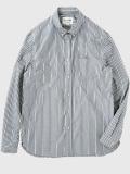 STILL BY HAND スティルバイハンド SH0083 スタンダードフィット ボタンダウンシャツ GREY STRIPE