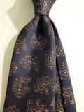 ドレイクス (Drake's)  【新作】  Silk Tie ペイズリー ブルー Handmade in London