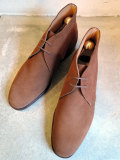 CROCKETT&JONES (クロケット&ジョーンズ)  CHERTSEY SUEDE TOBACO LEATHER SOLE チャッカブーツ