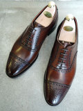 CROCKETT&JONES (クロケット&ジョーンズ) COVENTRY DARK BROWN LEATHER SOLE セミブローグ