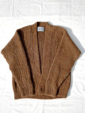 MARKAWARE (マーカウエア) ALPACA JAPANESE CARDIGAN NATURAL BROWN