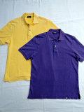 Drumohr ドルモア DTS612 半袖 ストーンウォッシュ 鹿の子ポロシャツ Yellow、Purple