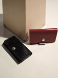 GLENROYAL (グレンロイヤル) 【SLIM BUSINESS CARD HOLDER】 名刺入れ NEW BLACK、BORDEAUX