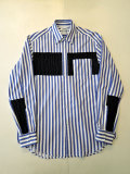 COOHEM (コーヘン) 20-183-020 ARAN KNIT SHIRT BLUE STRIPE