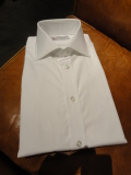 TURNBULL&ASSER(ターンブル&アッサー)WHITEブロード表前立てワイドスプレッドカラーシャツ1001WIDE【ワイドカラー】