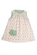 【Je suis en CP】クラッシックプチローズがかわいいワンピ☆Like Mummy dress(Rose)★12M★18M