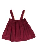 V-dress(dark red)