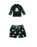 Frog Double Sleeve Rash Guard & Trunk