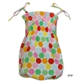 Pippy- Shirred Playsuit(Pop dots)
