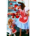 Beautiful 1950s Style Apron, Red Dot,