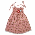 Celeste Ruched Dress Pink Flower