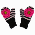 Pink and Navy Ziggy Mittens