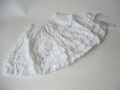 White ruffle skirt w/ bow