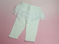 【Tea Princess】White leggings with skirt attach