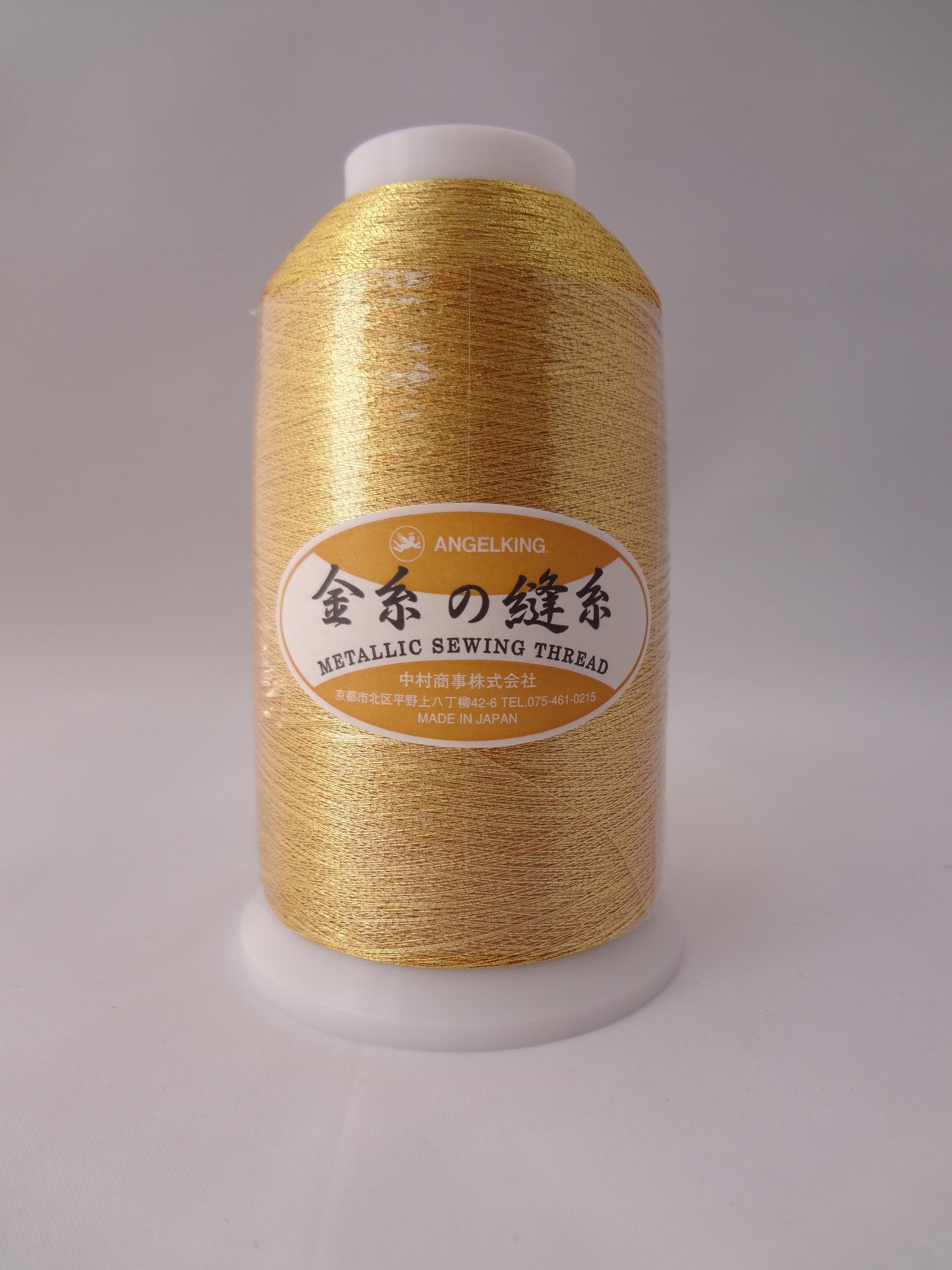 エンゼルキング 金糸の縫い糸 50番手 ゴールド 3.000m巻