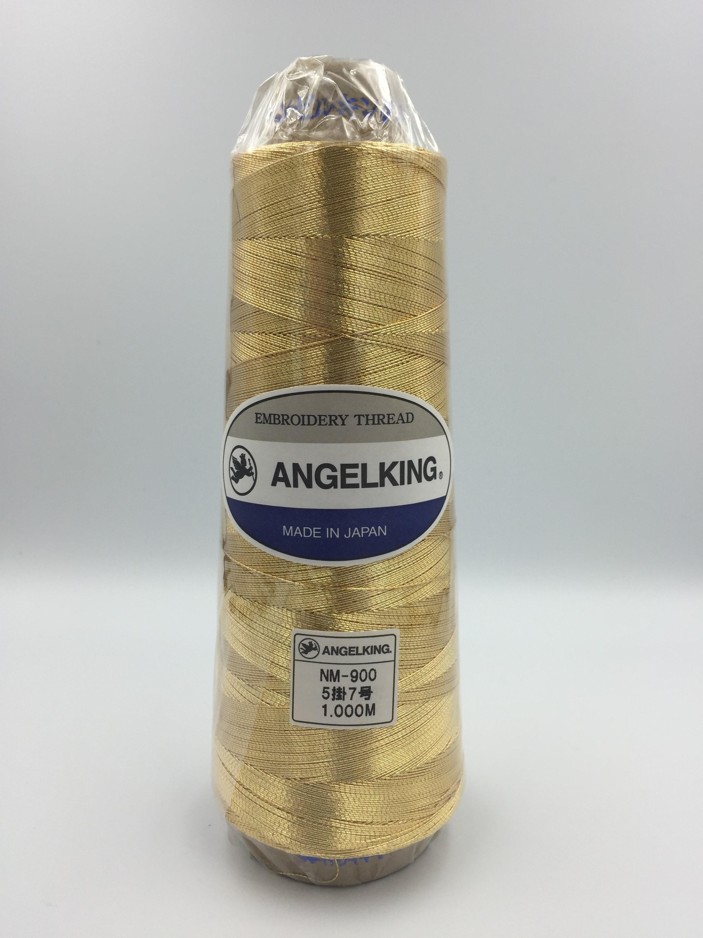 エンゼルキングミシン刺繍糸 金銀糸(太物)5掛 7号 1,000m巻