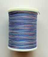 縫糸・キルトにも使える綿100%段染め糸 30番手 300M巻 〈B〉 【ピンク・青・水色】