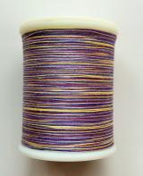 縫糸・キルトにも使える綿100%段染め糸 30番手 300M巻 〈C〉 【黄色・紫・グレー】