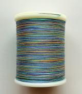 縫糸・キルトにも使える綿100%段染め糸 30番手 300M巻 〈G〉 【紫・黄色・青・水色】