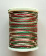 縫糸・キルトにも使える綿100%段染め糸 30番手 300M巻 〈I〉 【赤・緑・ベージュ】