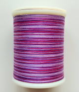 縫糸・キルトにも使える綿100%段染め糸 30番手 300M巻 〈L〉 【紫・薄紫・赤紫】