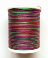 縫糸・キルトにも使える綿100%段染め糸 30番手 300M巻 〈M〉 【赤・緑・紫】