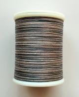 縫糸・キルトにも使える綿100%段染め糸 30番手 300M巻 〈S〉 【グレー・薄緑・緑】
