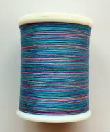 縫糸・キルトにも使える綿100%段染め糸 30番手 300M巻 〈T〉 【グレー・紫・青・青緑】