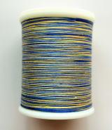 縫糸・キルトにも使える綿100%段染め糸 30番手 300M巻 〈U〉 【黄色・青・薄青】