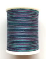 縫糸・キルトにも使える綿100%段染め糸 30番手 300M巻 〈W〉 【青・紫・青緑】