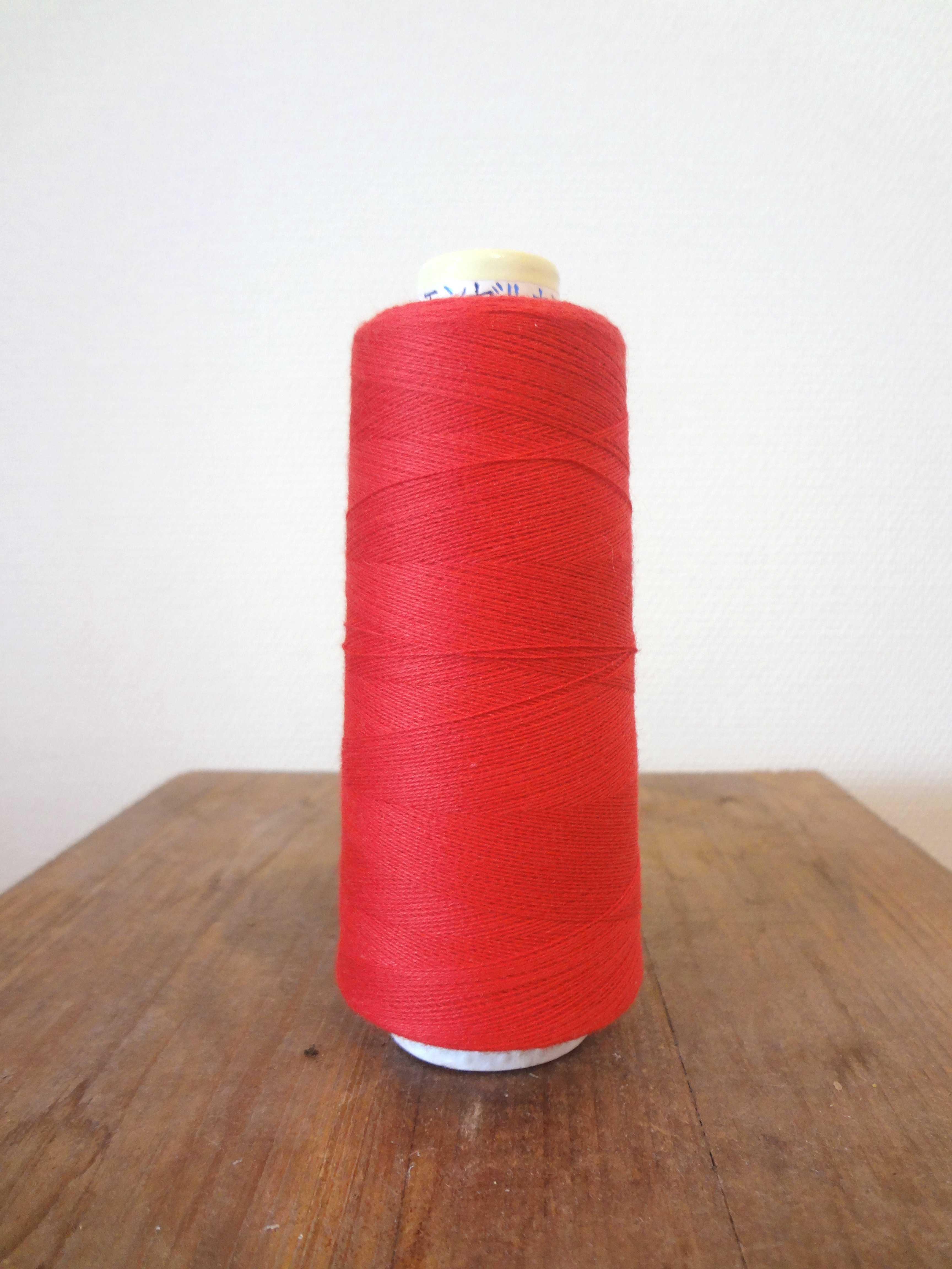 コットンライン#30 綿ミシン刺繍糸 158番(赤)