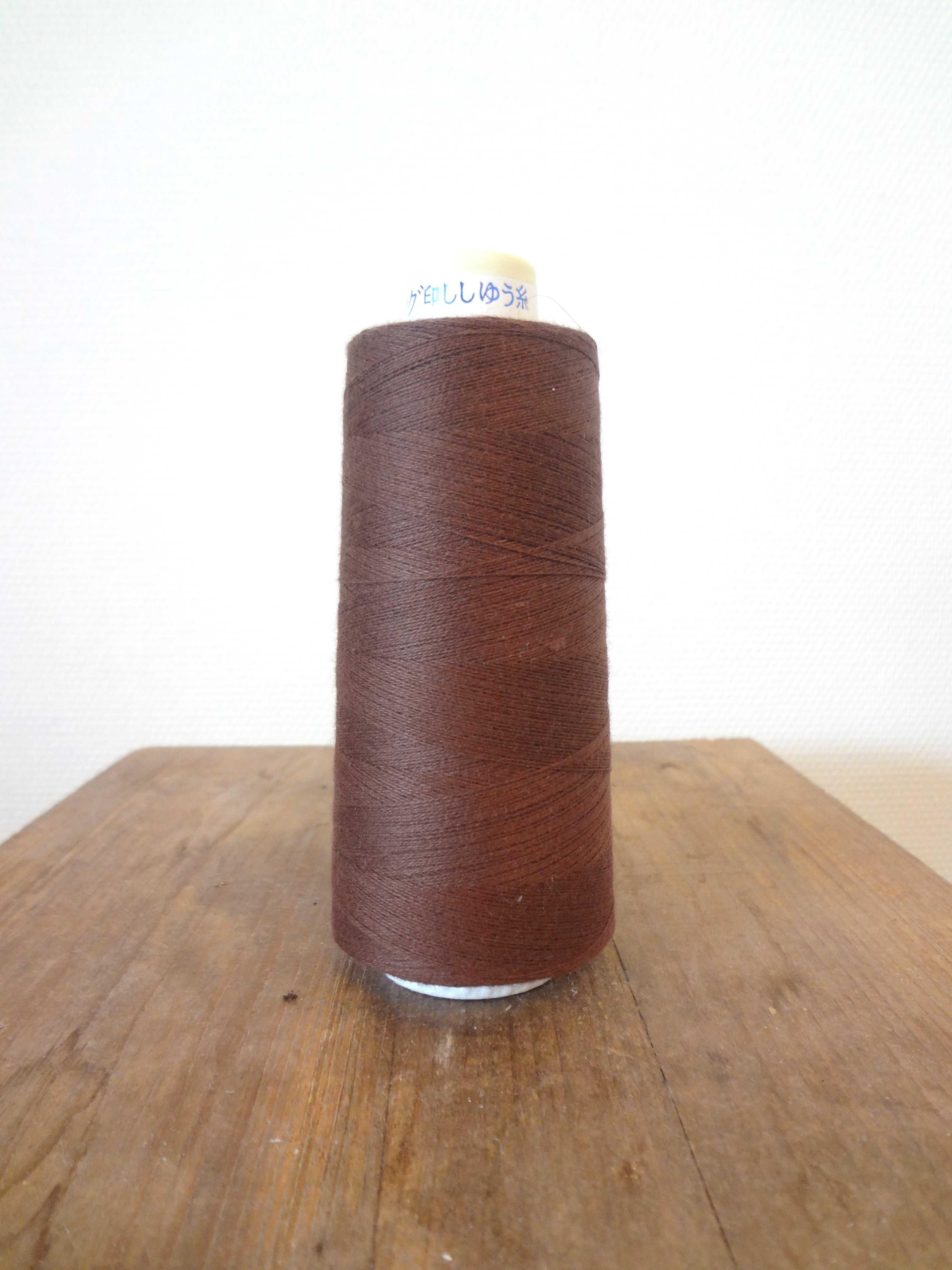 コットンライン#30 綿ミシン刺繍糸  255番(ブラウン)