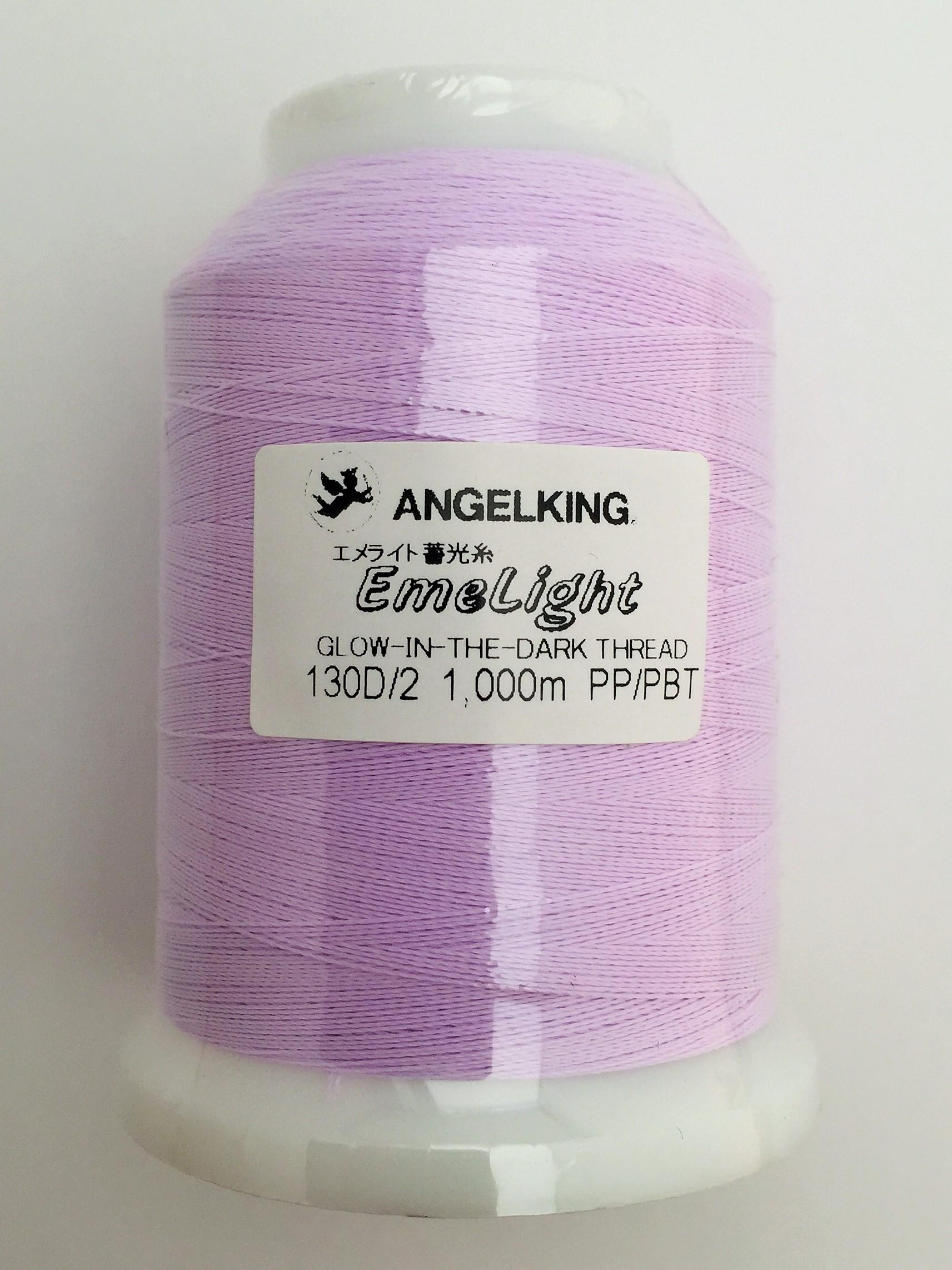 エンゼルキング 蓄光糸カラー EL-15(パープル)  1000M