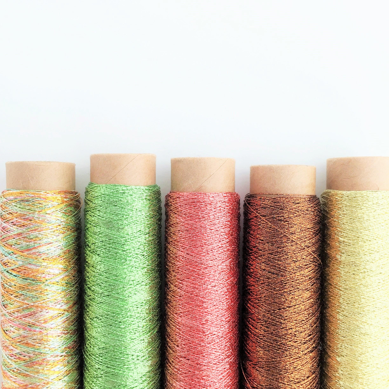 1掛カラー金糸 + 1掛カスリ金糸 シガレット巻セット 【陽だまりの庭】