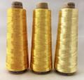 エンゼルキングミシン刺繍糸 金銀糸(太物)5掛 ゴールド 1,000m巻
