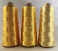 エンゼルキングミシン刺繍糸 金銀糸(太物)8掛 ゴールド 1,000m巻